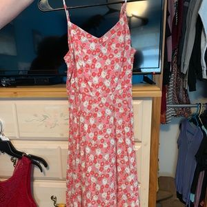 Spaghetti string fit & flare dress